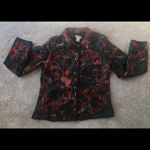 Christopher Banks red & black blazer size medium